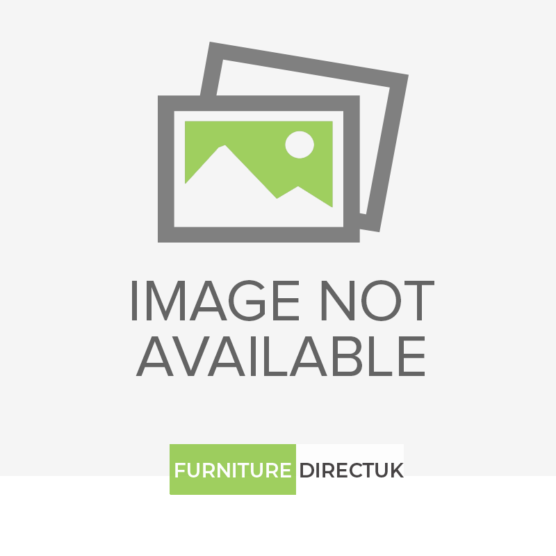 Ben Company New Serena Padded White and Silver Italian Bed Group Set with 4 Door Wardrobe